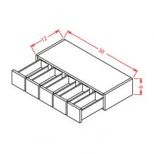 RTA cabinets wall spice drawer