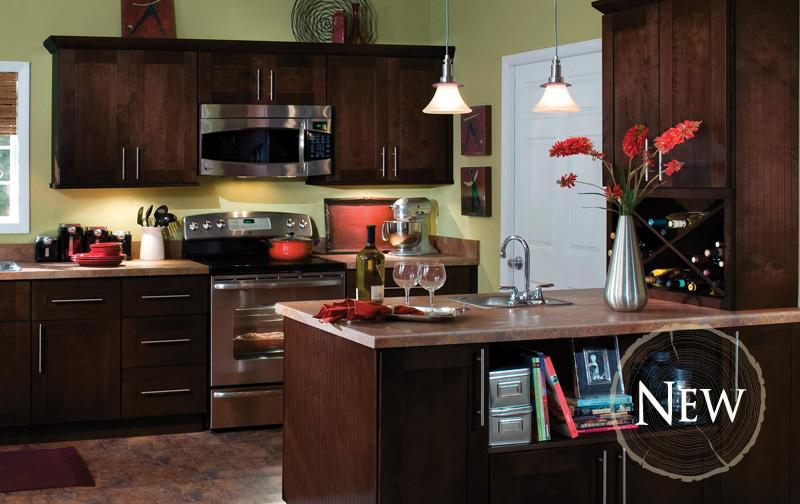 Fulton Mocha Glaze All Wood Cabinets  Assembled Wood Cabinets