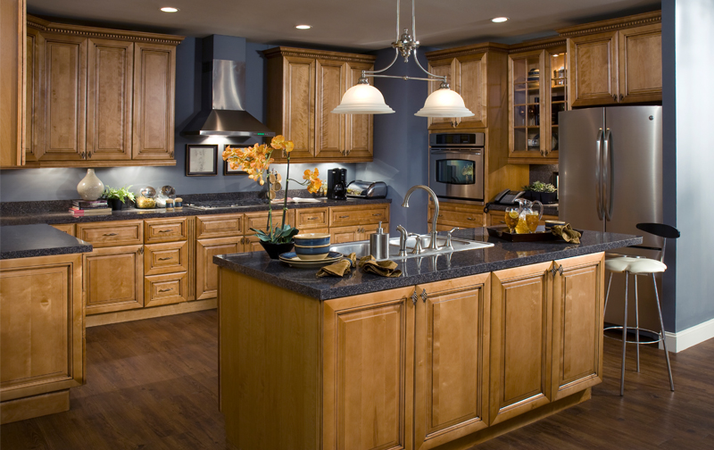 Lancaster Toffee Glaze Kitchen Cabinets