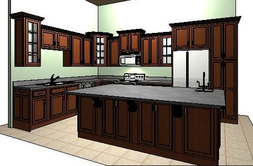 Free design service compliments of Extreme Kitchen & Bath, Inc.