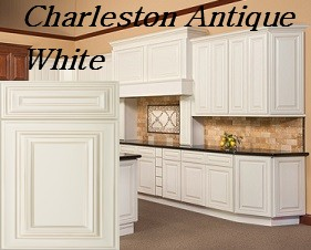 Gentil Charleston Antique White RTA Kitchen Cabinets ...