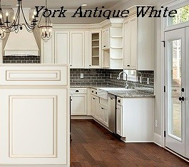Antique Shaker White RTA Kitchen Cabinets York Antique White RTA Kitchen  Cabinets ...