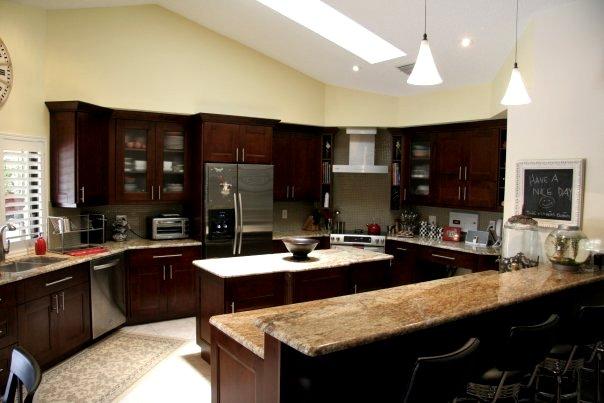Mocha Kitchen Cabinets - cosbelle.com