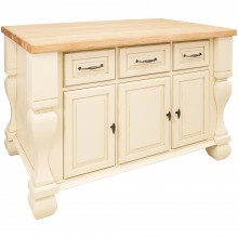 Kitchen Island Tuscan Distressed White ISL01-AWH