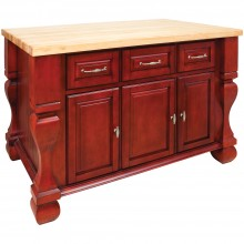 Kitchen Island Tuscan Dark Red ISL01-RED