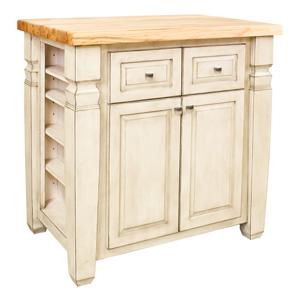 Small white kitchen islands