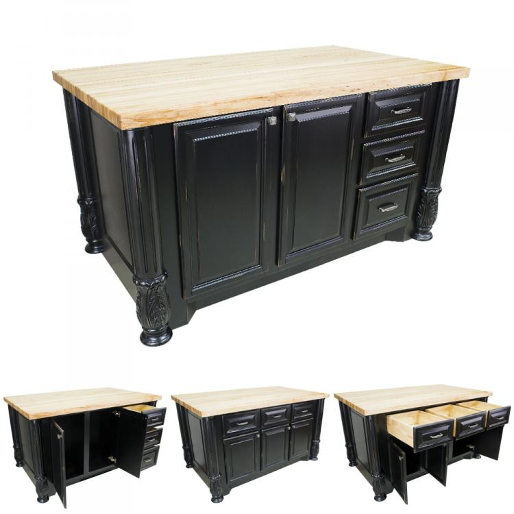 kitchen island distressed black milanese isl05 dbk isl05 dbk kitchen
