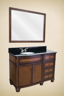 Compton Walnut Vanity Set VAN029-48T
