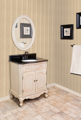 Clairemont Antique White Bathroom Vanity Set VAN061T