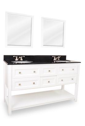 White Vanity Set 60