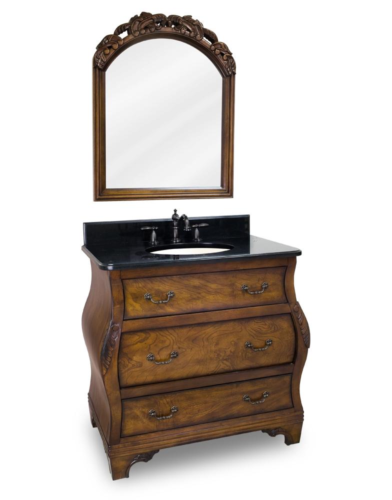 Lyn Design Walnut Bombe Bathroom Vanity  VAN009T 2