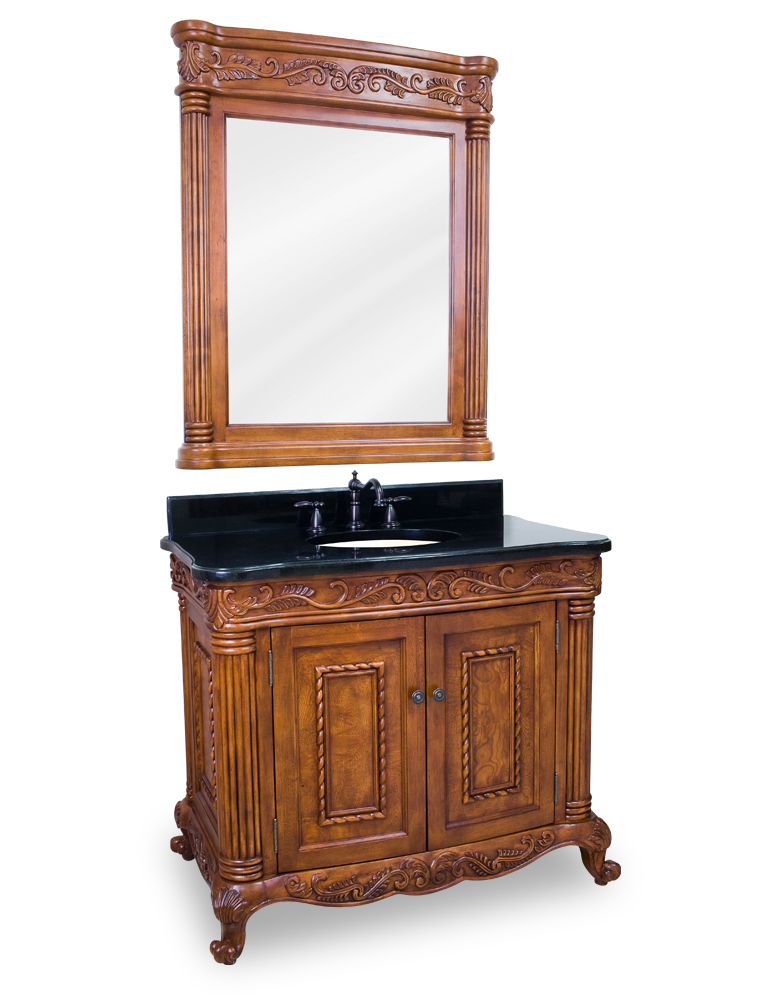 Lyn Design Burled Ornate Bathroom Vanity Top Sink Van012t
