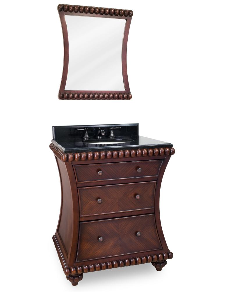 Lyn Design Rosewood Beaded Bathroom Vanity Set VAN035T 2