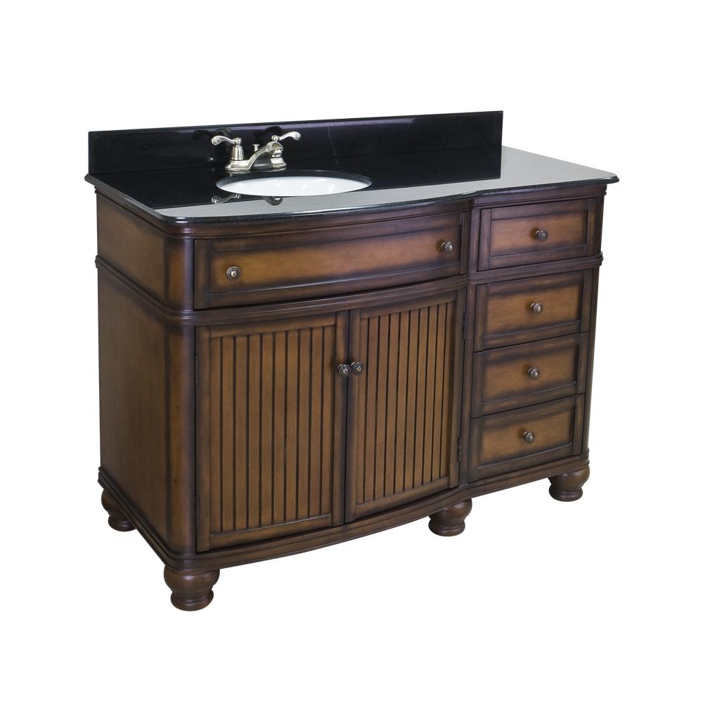 Compton Walnut Vanity Set VAN029-48T 1