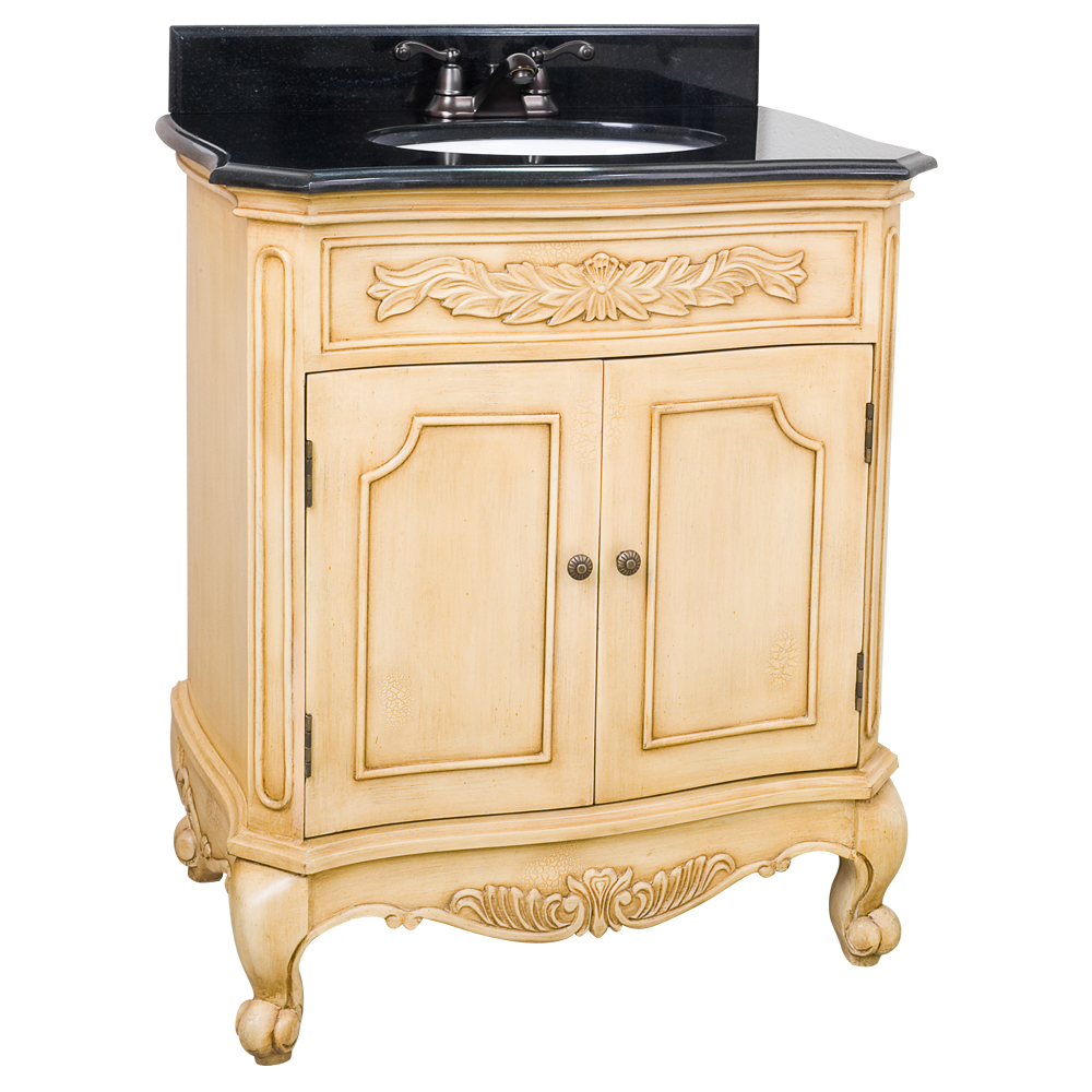 Clairemont Antique White Bathroom Vanity Set VAN061T 2