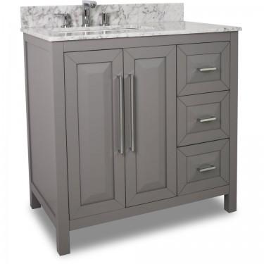Cade Contempo Grey Vanity VAN100-36T