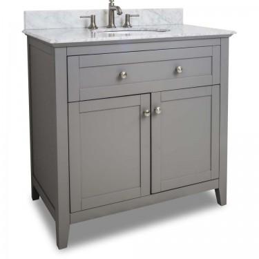 Chatham Shaker Grey Bath Vanity VAN102-36T