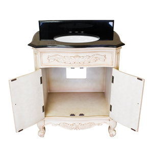 Clairemont Antique White Bathroom Vanity Set VAN061T 1